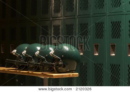 Helmets On The Bench