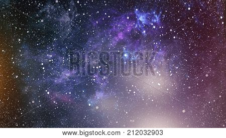 Star dust and pixie dust glitter space backdrop. Space stars and planet conceptual image.