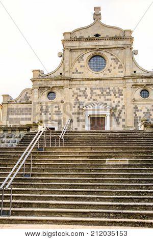 church stairs Abbazia di Praglia (Praglia Abbey) - Padua - Euganean Hills (Colli Euganei) - Italy