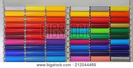 Colour Vinyl Pvc Plastic Foils For Graphic