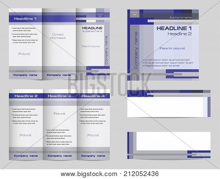 template set tri fold vector photo free trial bigstock