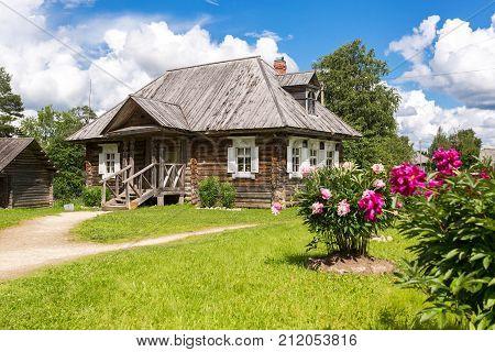 Konchanskoe-Suvorovskoe Russia - July 22 2017: Museum homestead of Alexander Suvorov near Borovichi. Generalissimo A. Suvorov is a great russian warlord