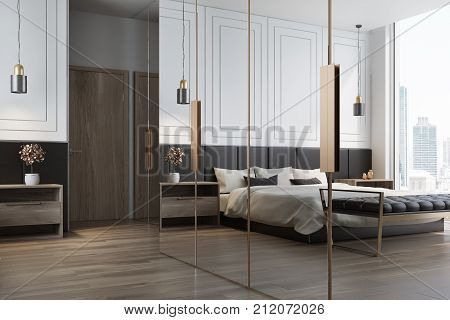 White Bedroom Interior Reflection