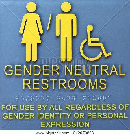 Very common Sign On Bathroom doors in Many parts of America and beyond