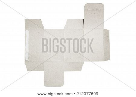 Mockup blueprint image photo free trial bigstock mockup blueprint template of paper box packaging old cardboard with die cut pattern malvernweather Gallery