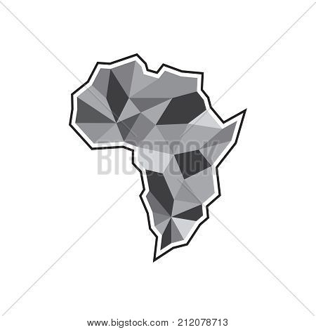 Creative african map icon. Abstract illustration of african map vector icon for web. Geometric african map. Vector illustration EPS.8 EPS.10