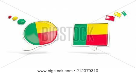 Two Chat Icons With Flag Of Benin