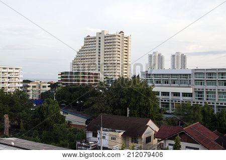 hua hin city urban landscape architecture  view