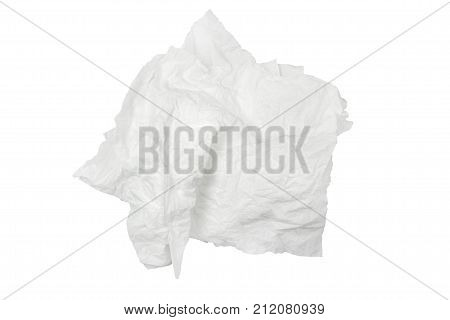 White tissues isolated on white background. tissues object.