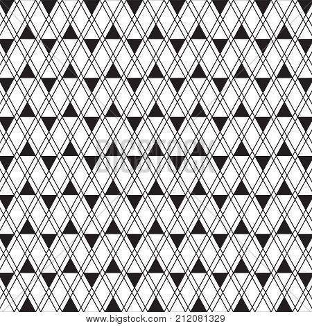 Ethnic pattern black and white. Geometric pattern. Ethnic background pattern, Ethnic wallpaper pattern, Ethnic clothing pattern, Geometric Ethnic pattern design for background or wallpaper. Vector illustration EPS.8 EPS.10