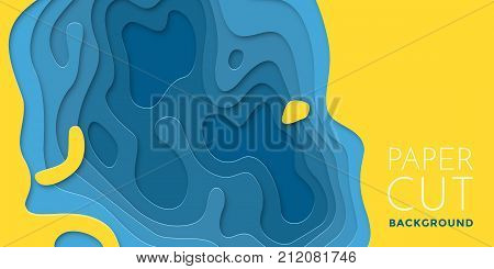 Color Layers Paper 3D Papercut Multi Paper Cut Vector Background Banner Texture