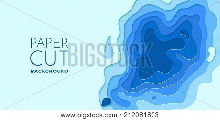 Multi Color Layers Effect Papercut 3D Paper Cut Vector Art Background Texture
