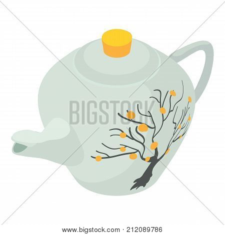 Kettle white icon. Isometric illustration of kettle white vector icon for web