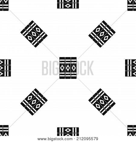 Three literary books pattern repeat seamless in black color for any design. Vector geometric illustration