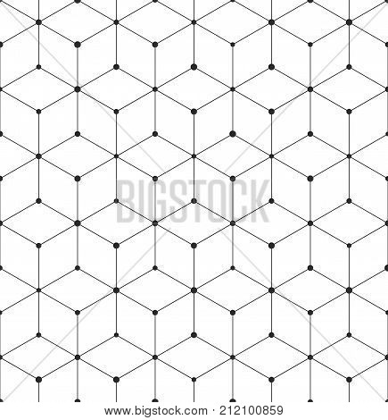 Geometric Abstract Seamless Pattern Cube Lines Background Texture