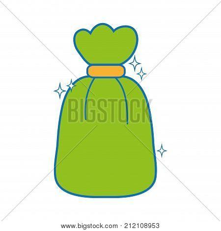 garbage bag object with biodegradable trash vector illustration
