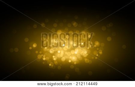 Gold Light Blur Glitter Or Sparkling Defocused Vector Background