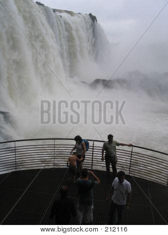 Tourists Watching Waterfalls