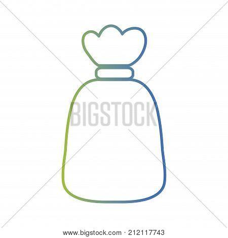 line garbage bag object with biodegradable trash vector illustration