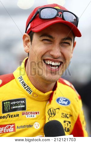 October 29, 2017 - Martinsville, Virginia, USA: Joey Logano (22) hangs out on pit road before qualifying for the First Data 500 at Martinsville Speedway in Martinsville, Virginia.
