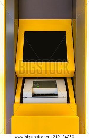 Passbook Update Machine. The Station Automatic Machine.