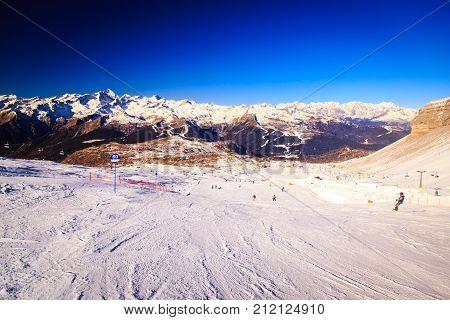 Dolomiti Di Brenta In A Winter Day