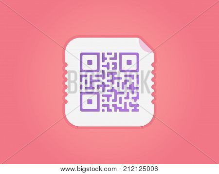 QR code icon. Vector QR code icon