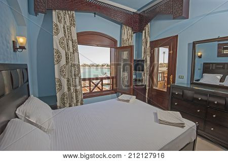 Interior Design Of Bedroom In House With Sea View