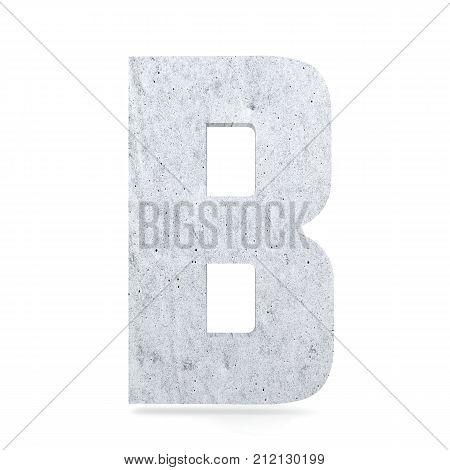 3D Decorative Concrete Alphabet, Capital Letter B
