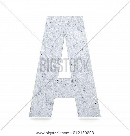 3D Decorative Concrete Alphabet, Capital Letter A