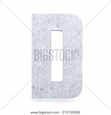3D Decorative Concrete Alphabet, Capital Letter D