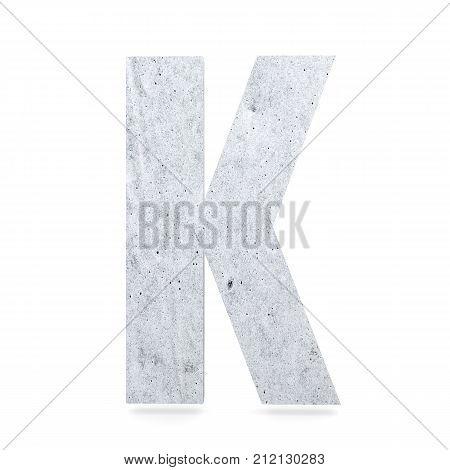 3D Decorative Concrete Alphabet, Capital Letter K