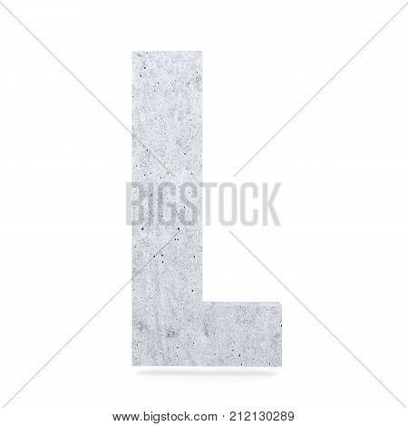 3D Decorative Concrete Alphabet, Capital Letter L