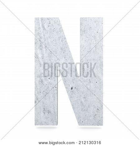 3D Decorative Concrete Alphabet, Capital Letter N