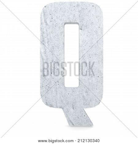 3D Decorative Concrete Alphabet, Capital Letter Q