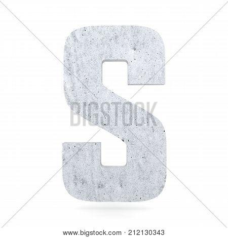 3D Decorative Concrete Alphabet, Capital Letter S
