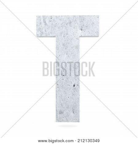 3D Decorative Concrete Alphabet, Capital Letter T