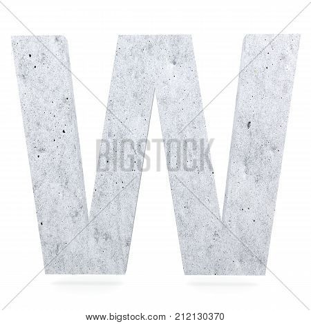 3D Decorative Concrete Alphabet, Capital Letter W