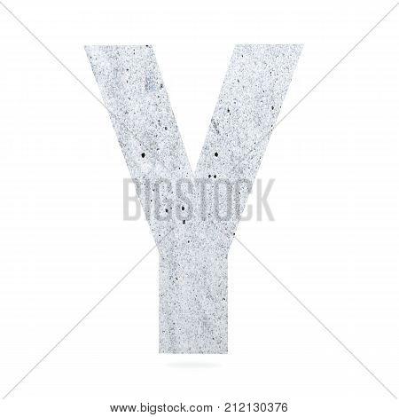 3D Decorative Concrete Alphabet, Capital Letter Y