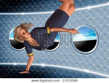 Space Air Hostess.