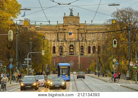 Bavaria Government building on Maximilian street on November 06 2015 in Munich Germany