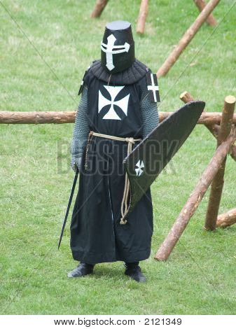 Medieval Knight, Waiting For  Fight