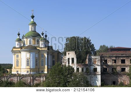 Cathedral Ascension of the Lord of the Savior-Sumorin monastery in the town of Totma, Vologda Region, Russia
