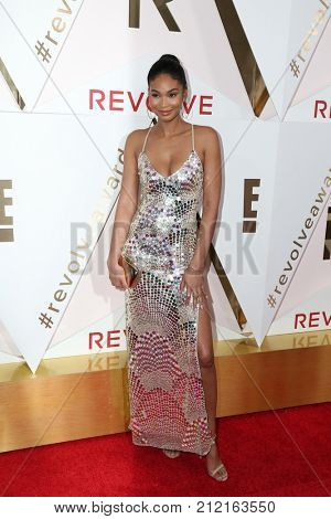 LOS ANGELES - NOV 2:  Chanel Iman at the 2017 Revolve Awards at the Dream Hotel Hollywood on November 2, 2017 in Los Angeles, CA