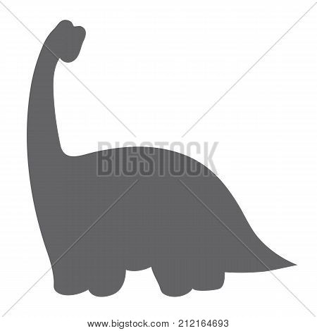 Vector silhouette of cute dinosaur. Vector dinosaur. Dinosaur silhouette vector illustration