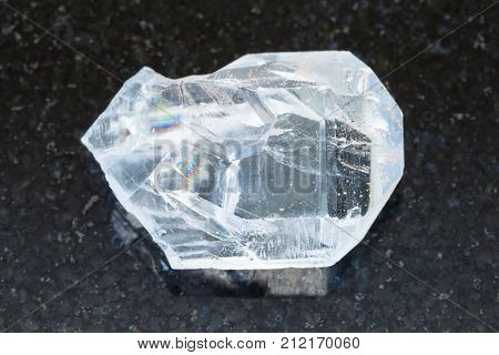 Raw Crystal Of Celestine Stone On Dark Background