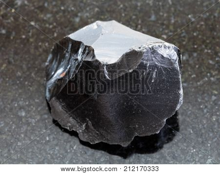 Raw Obsidian (volcanic Glass) Crystal On Dark