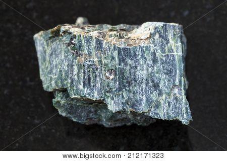 Chrysotile Asbestos Stone On Dark Background