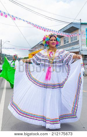 boquete panama November 2017 this is a month of great celebrations in Panama. Many visitors can admire parades in traditional clothes and drum sound parades