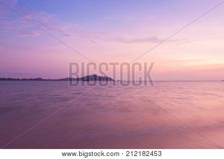 Beutiful beach on twilight time ,Thailand .